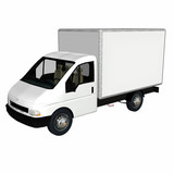 delivery cargo truck 1 poster