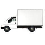 delivery cargo truck 2 poster