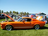 orange american muscle car poster