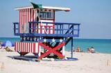 miami beach lifeguard stand poster