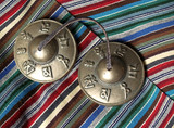 tibetan (tantric)  buddhist bronze temple bells poster