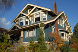 craftsman style house poster