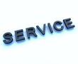 service 3d sign