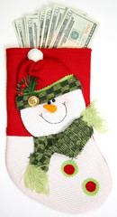 complete vertical snowman sock