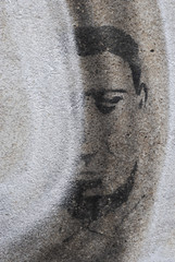 part of face graffiti
