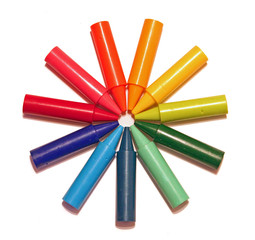 crayon colour wheel
