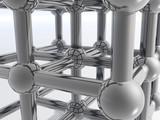 3d molecule poster