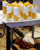 peaches and cream dessert poster