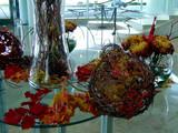 fall foliage display on table poster