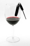 car key in a wine glass, drunk driver poster