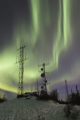 double aurora band and two antennas
