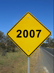 empty warning road sign