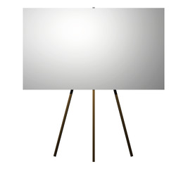 easel with blank sign