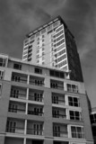 block of flats canary wharf london poster