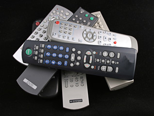 remotes on black