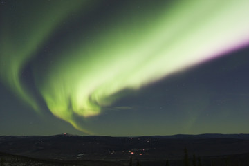 colorful arc of northern lights