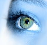 Fototapety yeux bleu vert