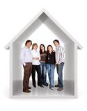 happy family at home poster