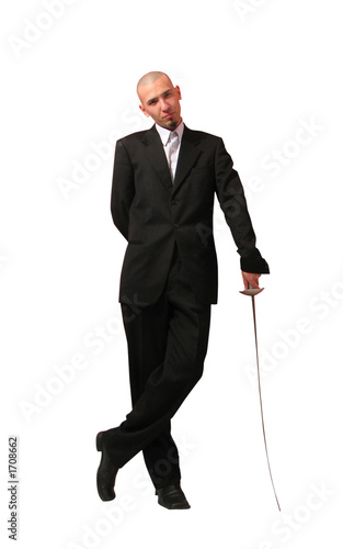 young man with rapier