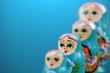 Leinwandbild Motiv blue russian dolls