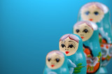blue russian dolls