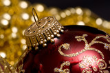 christmas ornaments and beads poster