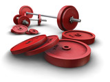 weightlifting weights poster