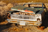 rusted old car poster