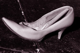 high heel poster