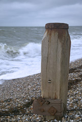 groyne on stone beach