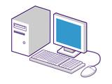 computer monitor keyboard mouse axio poster