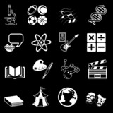 subject category icon set poster