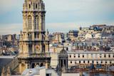paris rooftops poster