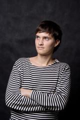 guy in striped vest