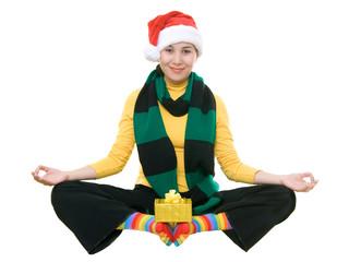 funny christmas yoga