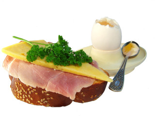 breakfast. a ham, an egg and cheese.