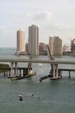 miami skyline with bridge poster