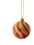 striped christmas ball poster