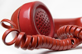 red telephone receiver poster