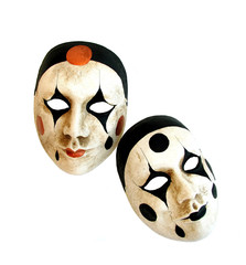 two venetian carnival masks