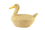 duck made of cane material poster