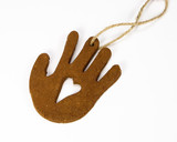 clay hand christmas ornament poster