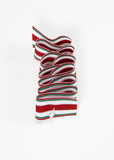coiled ribbon christmas decoration poster