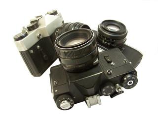three cameras.