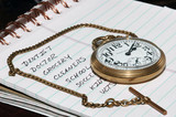 to do list and pocket watch poster
