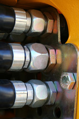 the chromeplated nuts of hydraulic system of a dredge