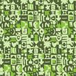 motif symboles vert