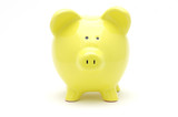 yellow piggy bank poster
