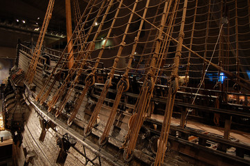 ancient ship at vasa museum, stockholm, sweden