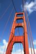 canvas print picture brückenpfeiler der golden gate bridge